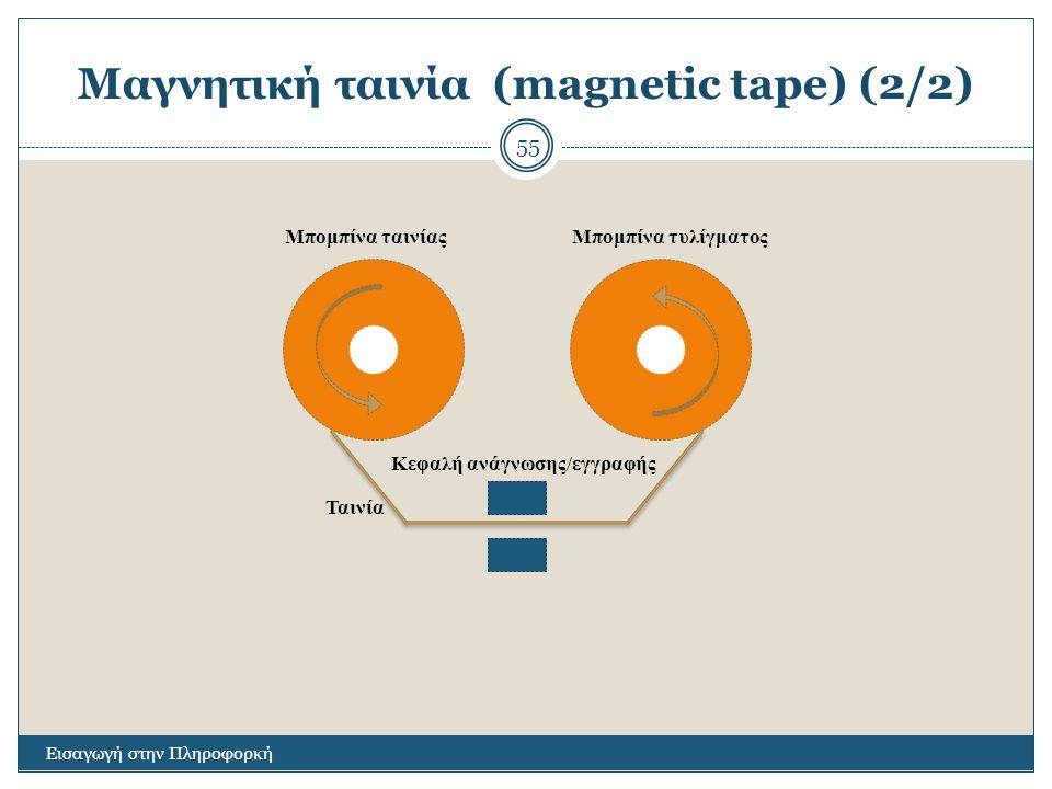 Μαγνητική ταινία (magnetic tape) (2/2)