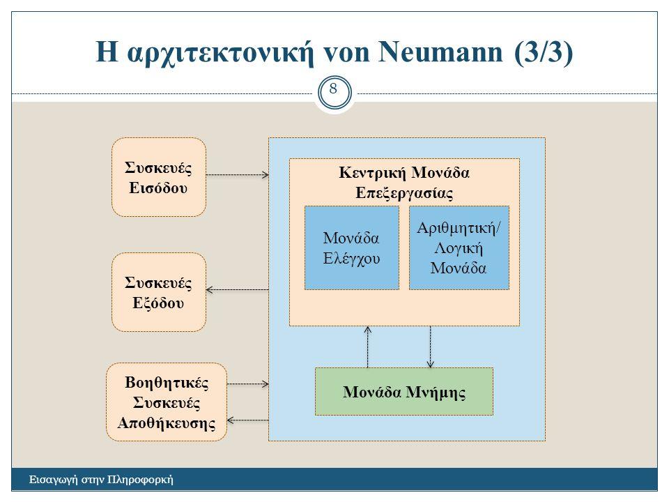 Η αρχιτεκτονική von Neumann (3/3)