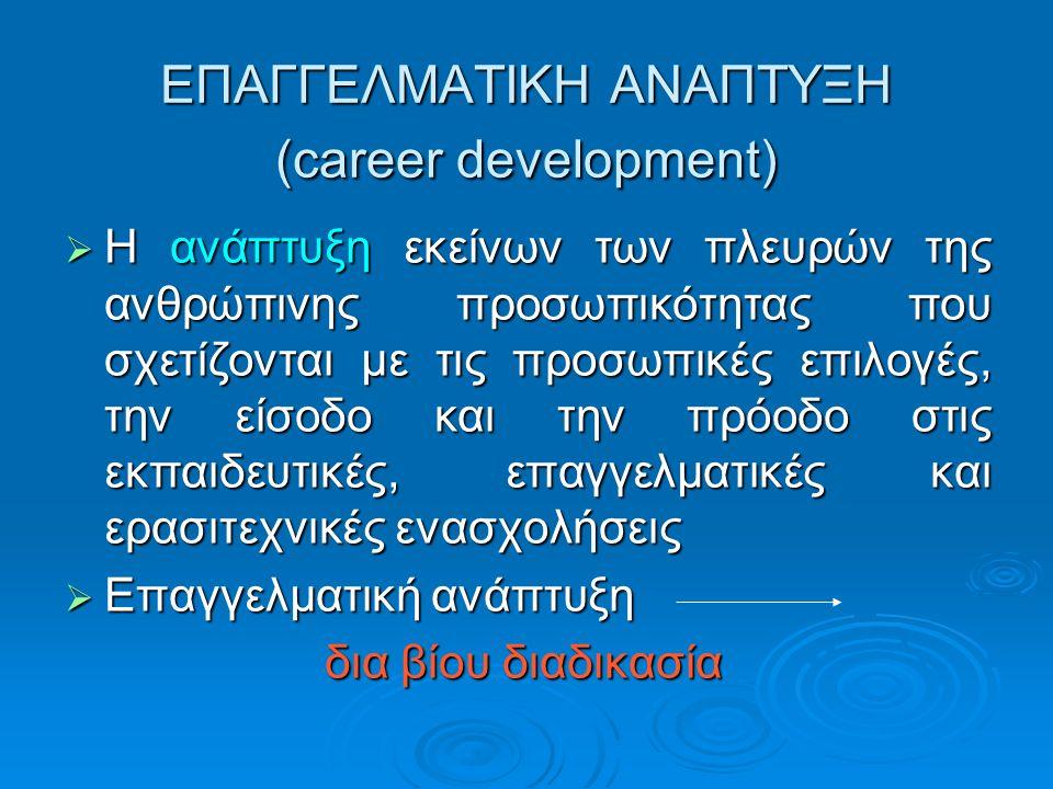 ΕΠΑΓΓΕΛΜΑΤΙΚΗ ΑΝΑΠΤΥΞΗ (career development)