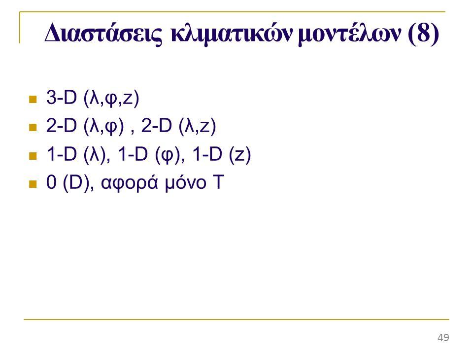 Διαστάσεις κλιματικών μοντέλων (8)