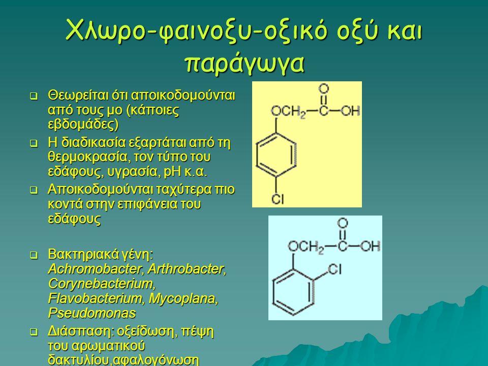 Χλωρο-φαινοξυ-οξικό οξύ και παράγωγα