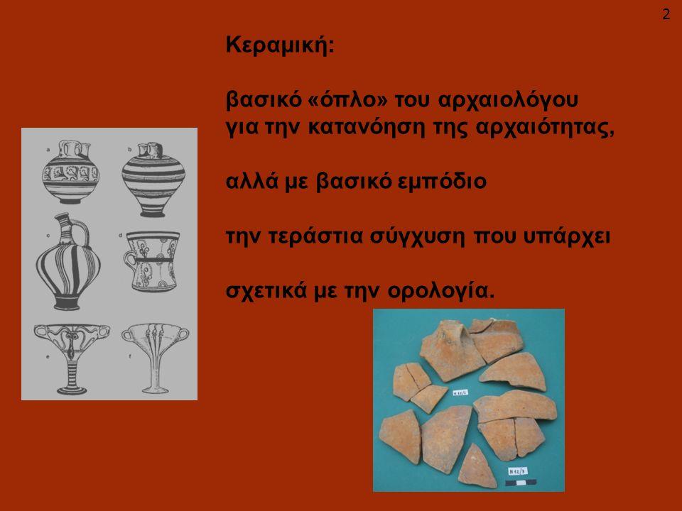 βασικό «όπλο» του αρχαιολόγου για την κατανόηση της αρχαιότητας,