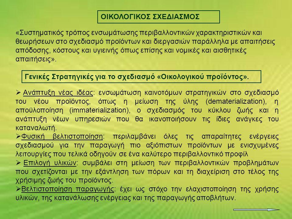 ΟΙΚΟΛΟΓΙΚΟΣ ΣΧΕΔΙΑΣΜΟΣ