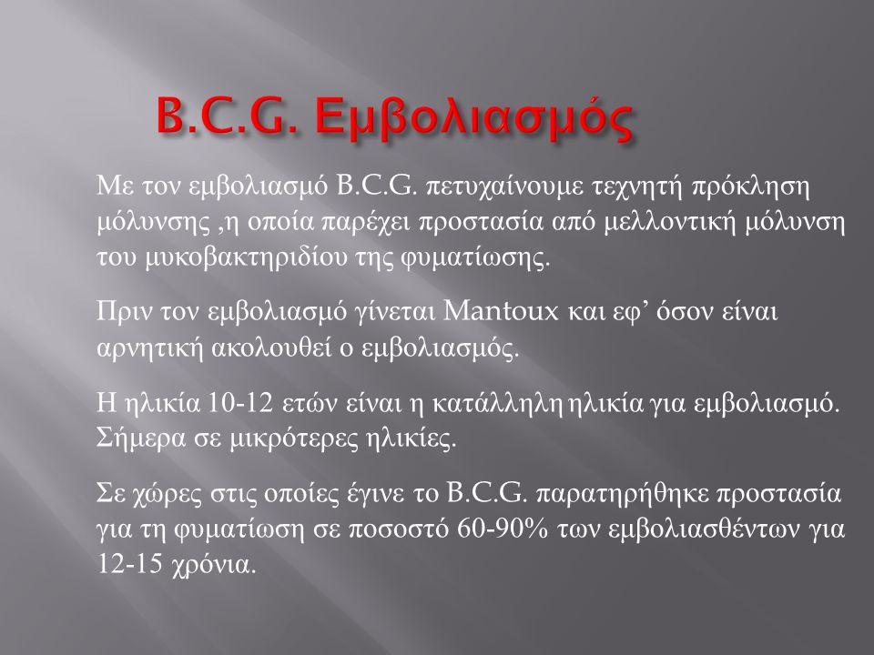 B.C.G. Εμβολιασμός