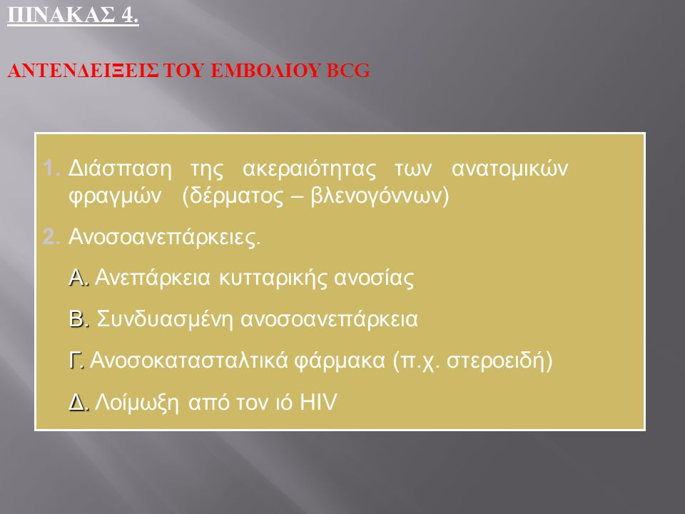 Α. Ανεπάρκεια κυτταρικής ανοσίας Β. Συνδυασμένη ανοσοανεπάρκεια