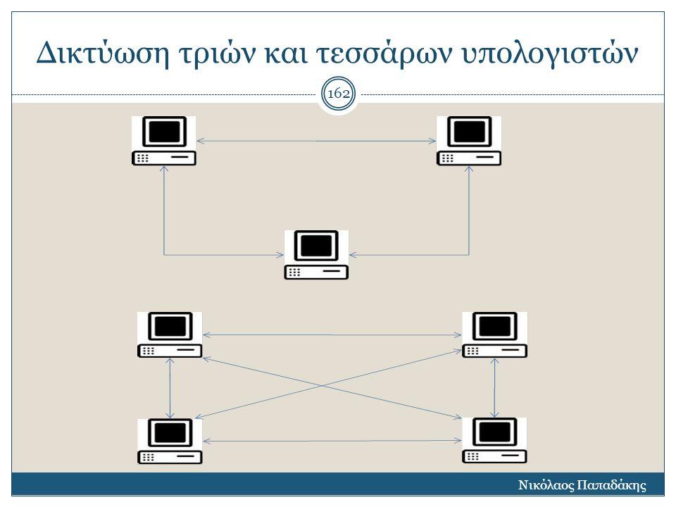 Δικτύωση τριών και τεσσάρων υπολογιστών