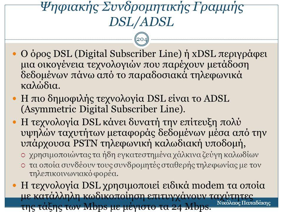 Ψηφιακής Συνδρομητικής Γραμμής DSL/ADSL