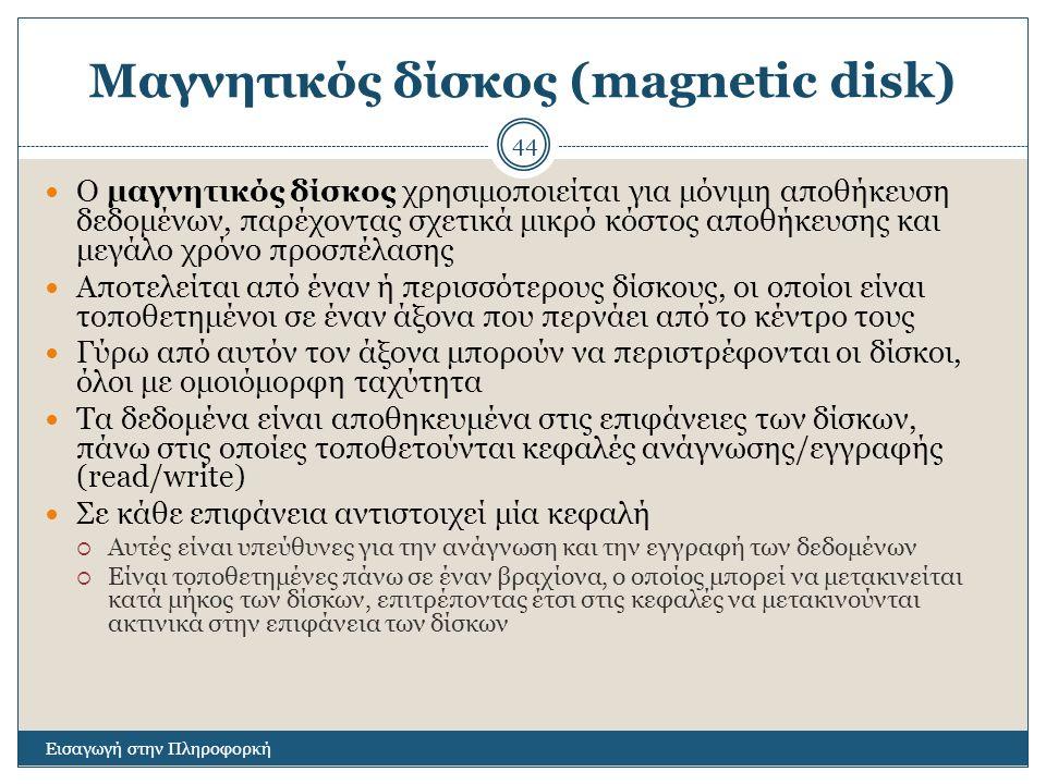 Μαγνητικός δίσκος (magnetic disk)