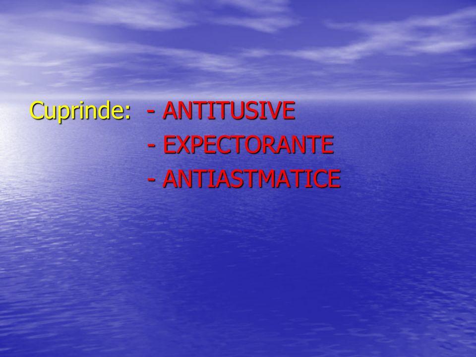 Cuprinde: - ANTITUSIVE