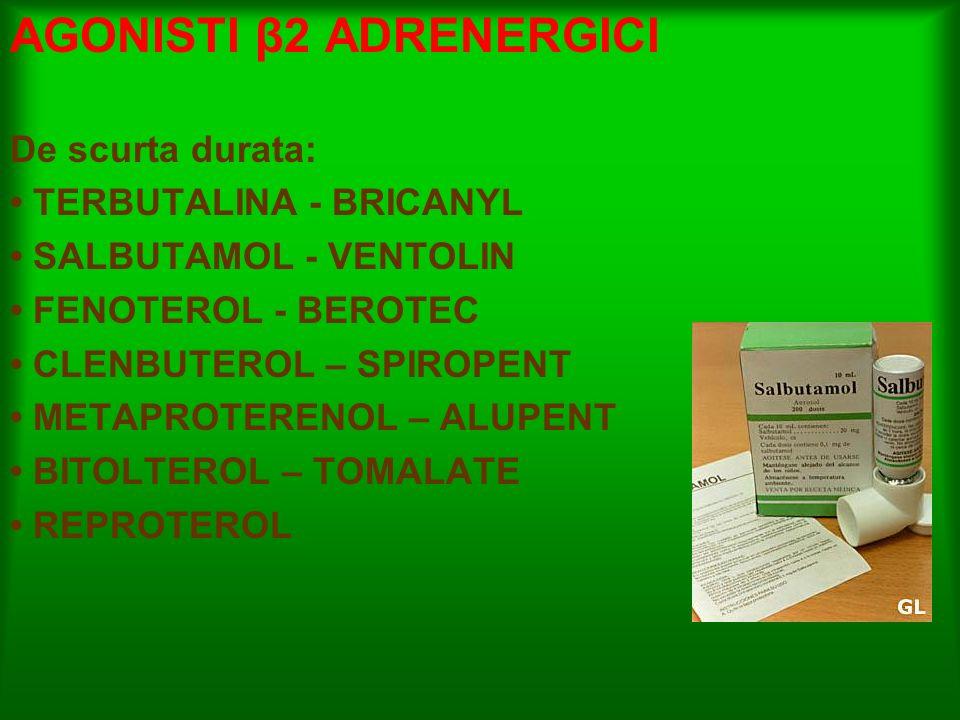 AGONISTI β2 ADRENERGICI