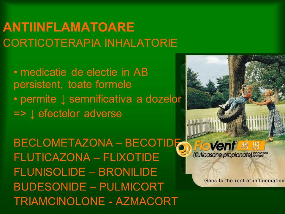 ANTIINFLAMATOARE CORTICOTERAPIA INHALATORIE