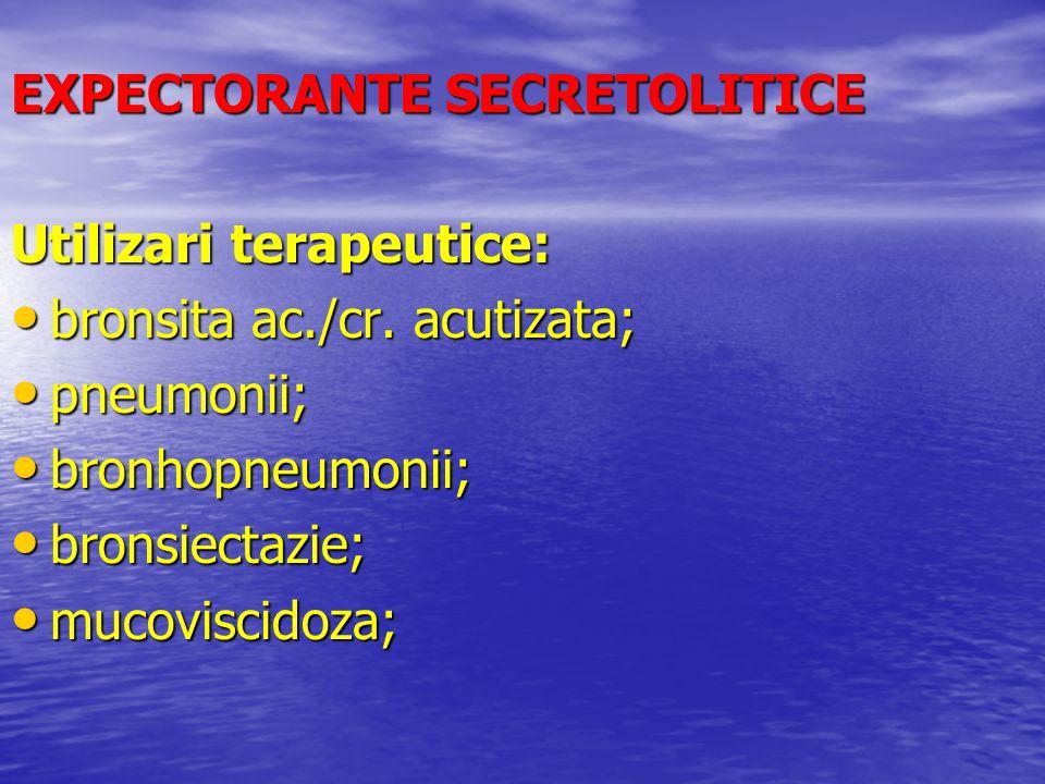 EXPECTORANTE SECRETOLITICE