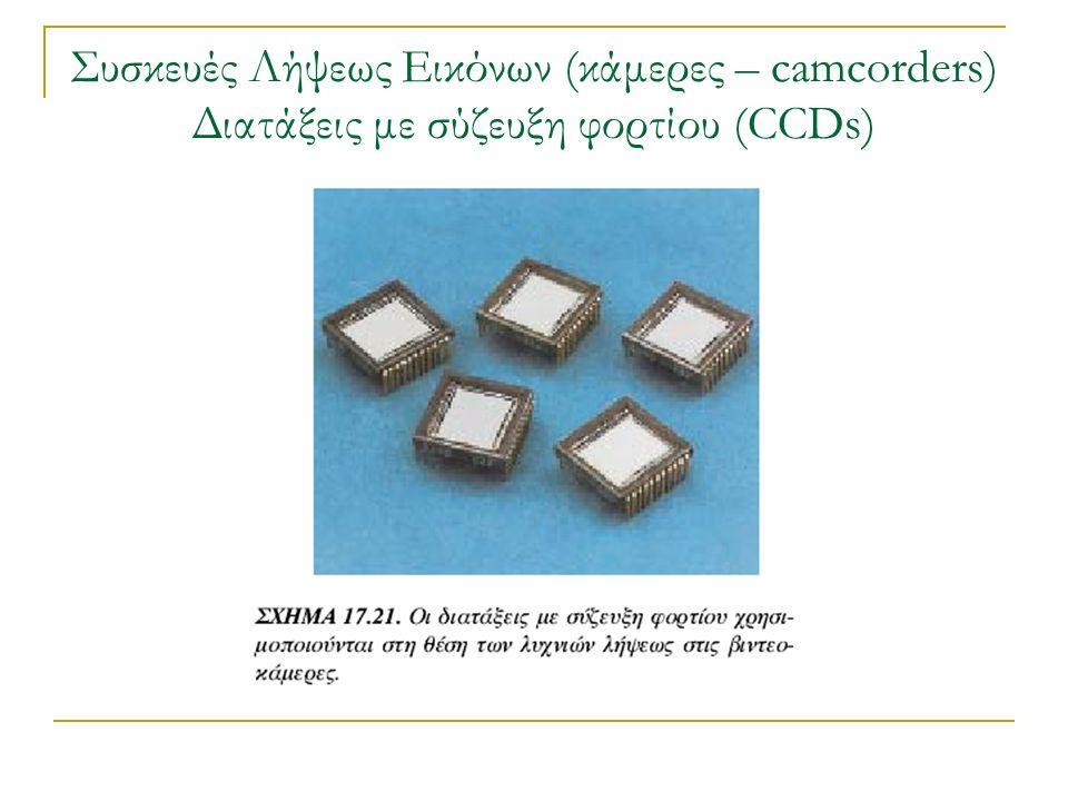 Συσκευές Λήψεως Εικόνων (κάμερες – camcorders) Διατάξεις με σύζευξη φορτίου (CCDs)