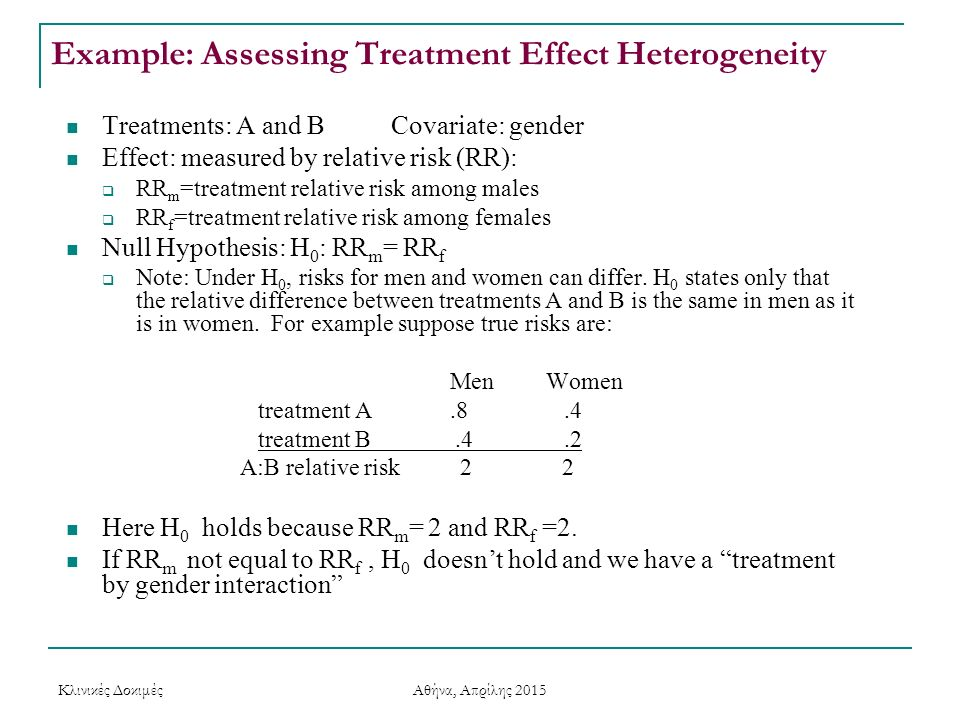 Example: Assessing Treatment Effect Heterogeneity