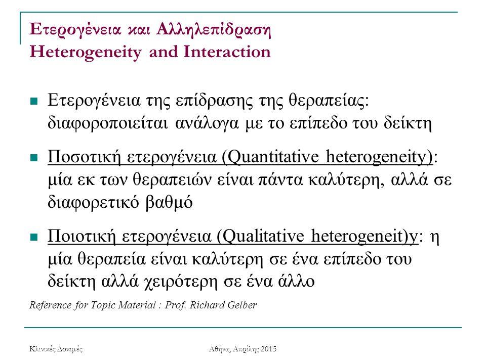 Ετερογένεια και Αλληλεπίδραση Heterogeneity and Interaction