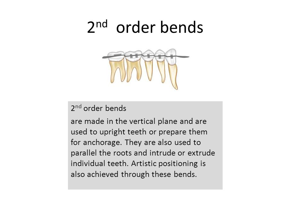 2nd order bends