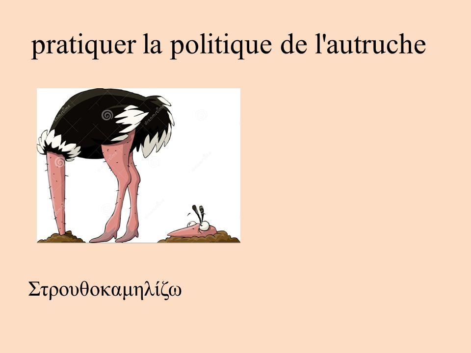 pratiquer la politique de l autruche