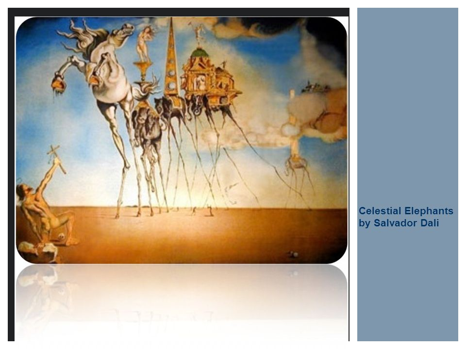Celestial Elephants by Salvador Dali