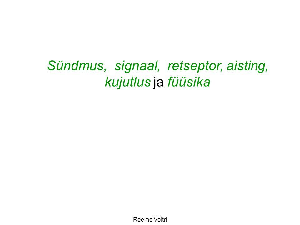 Sündmus, signaal, retseptor, aisting, kujutlus ja füüsika