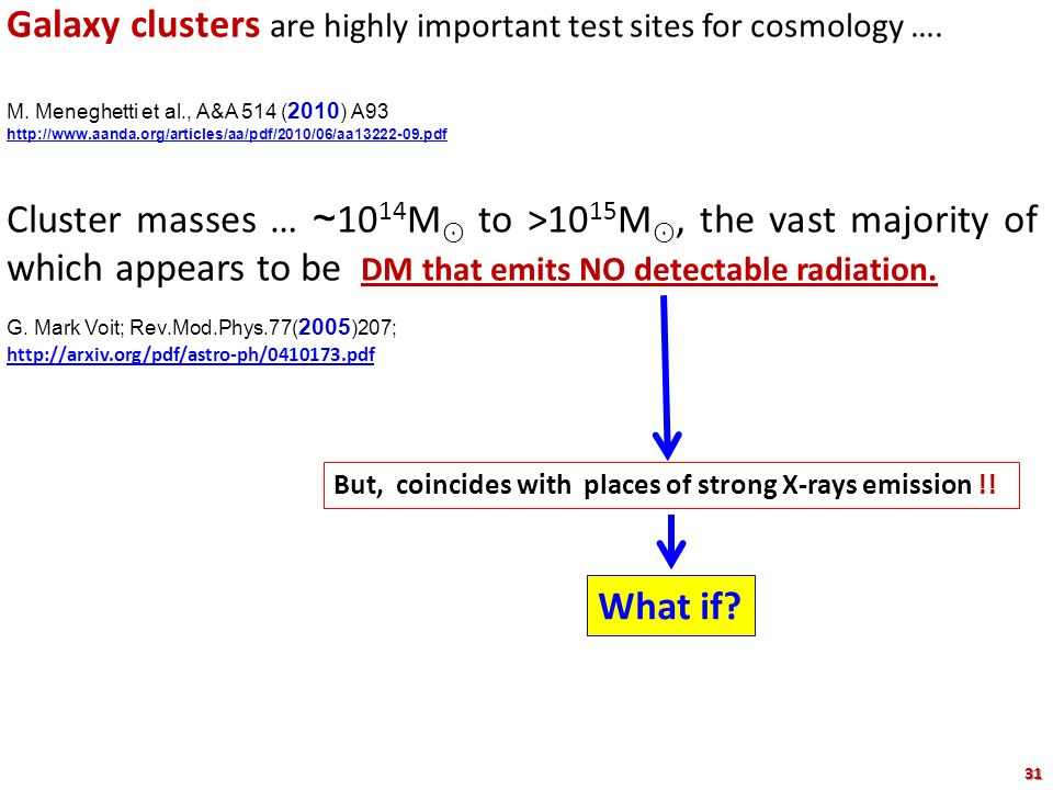 Galaxy clusters are highly important test sites for cosmology ….
