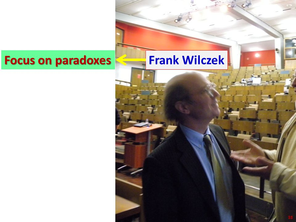 Focus on paradoxes Frank Wilczek 38