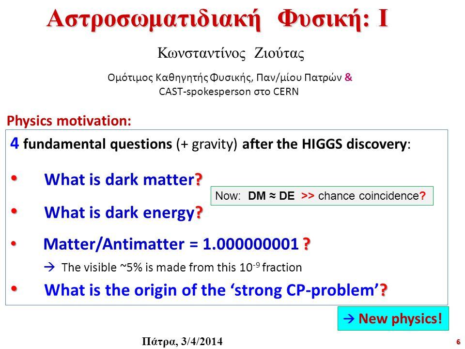 Αστροσωματιδιακή Φυσική: Ι