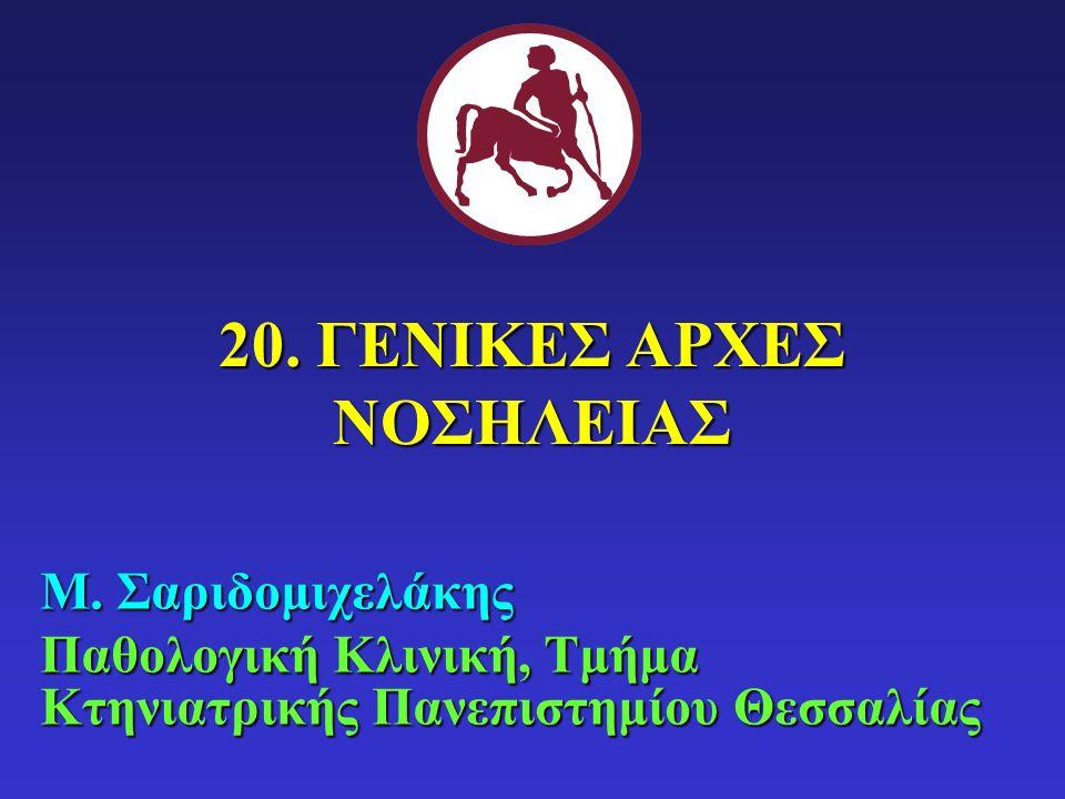 20. ΓΕΝΙΚΕΣ ΑΡΧΕΣ ΝΟΣΗΛΕΙΑΣ