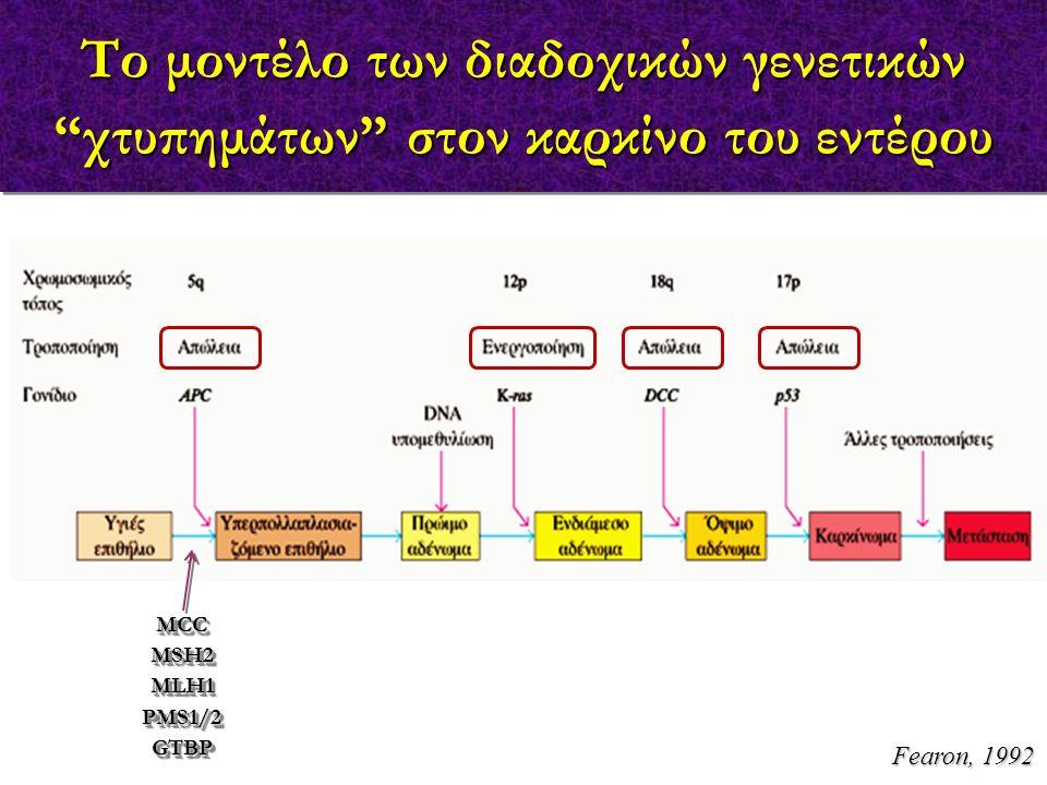 Το μοντέλο των διαδοχικών γενετικών χτυπημάτων στον καρκίνο του εντέρου