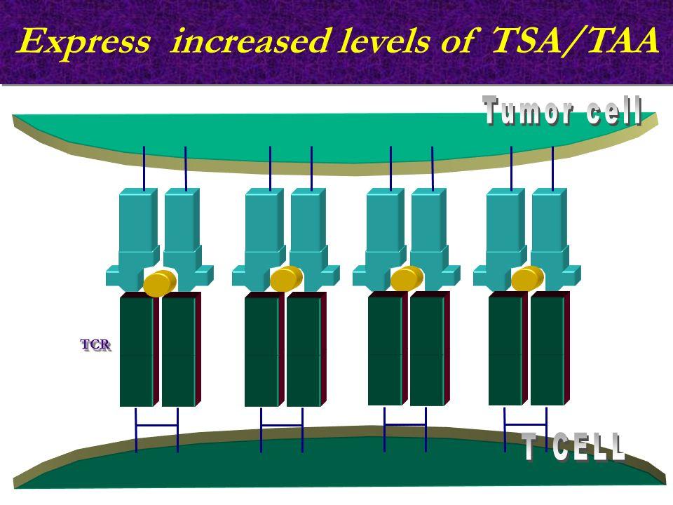 Express increased levels of TSA/TAA