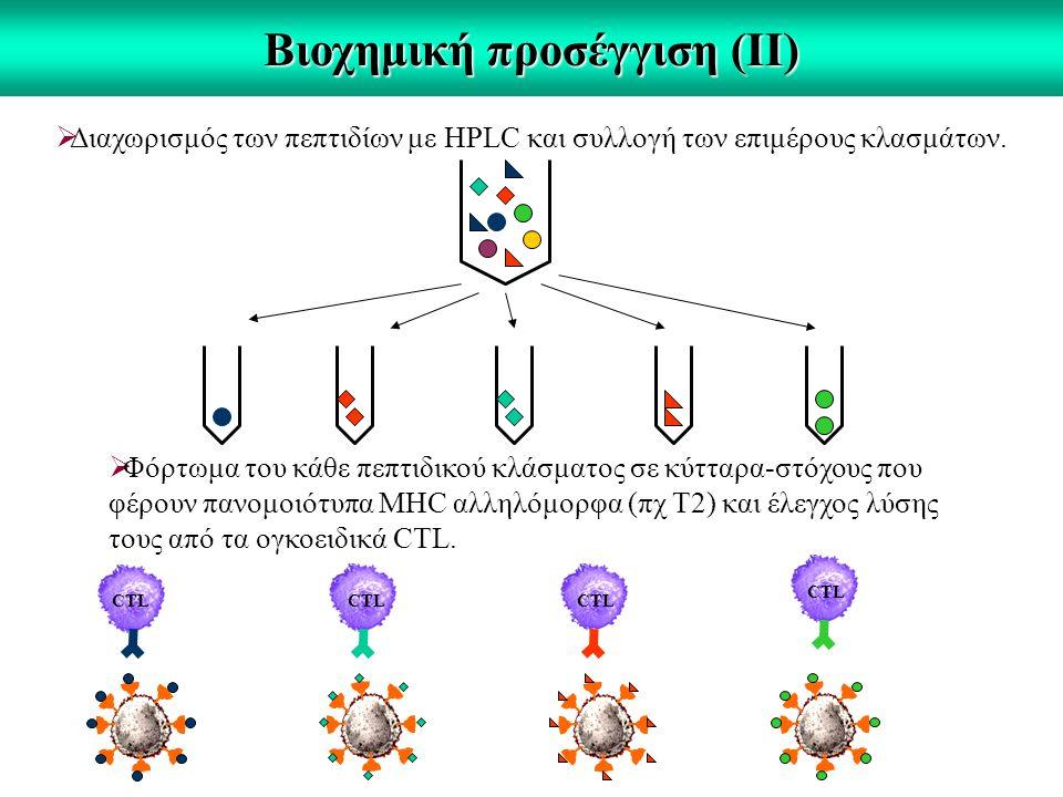 Βιοχημική προσέγγιση (ΙΙ)