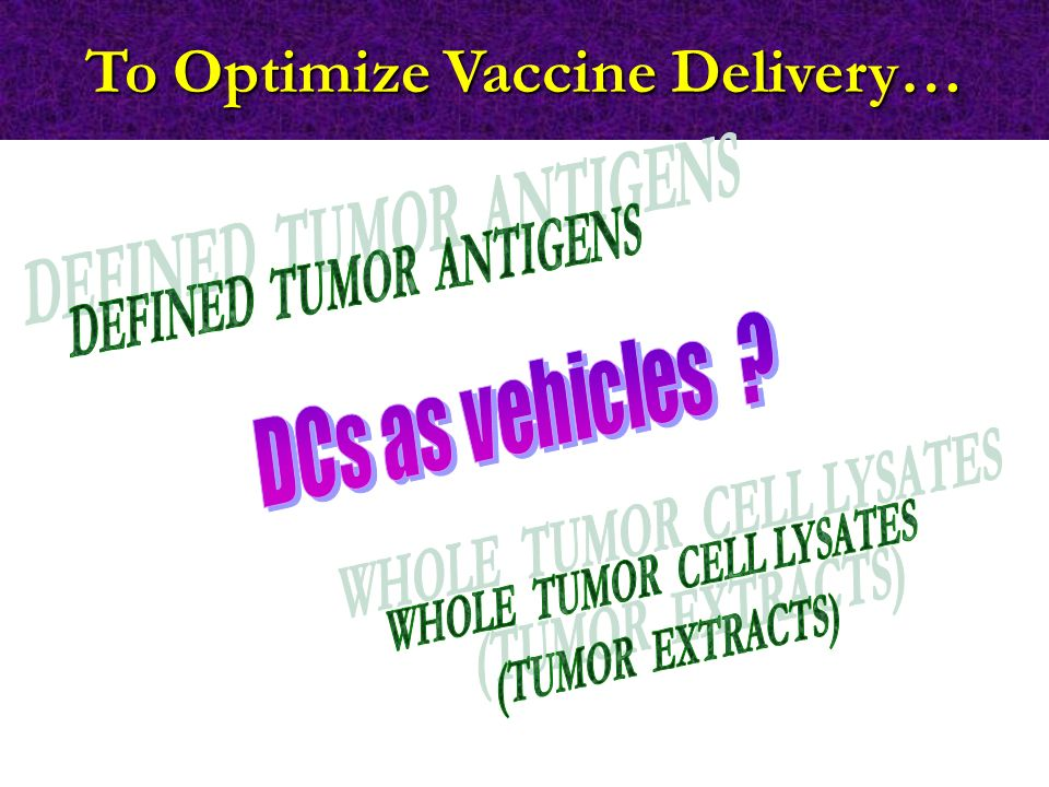 To Optimize Vaccine Delivery…