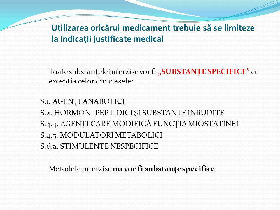 Utilizarea oricărui medicament trebuie să se limiteze la indicaţii justificate medical
