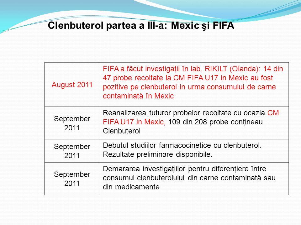 Clenbuterol partea a III-a: Mexic şi FIFA