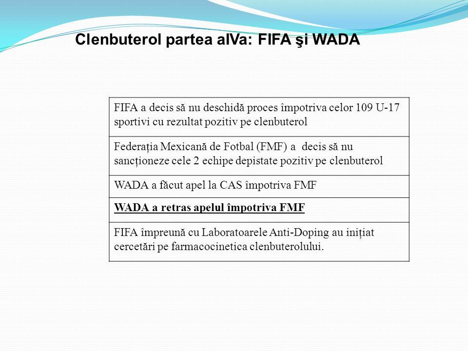 Clenbuterol partea aIVa: FIFA şi WADA