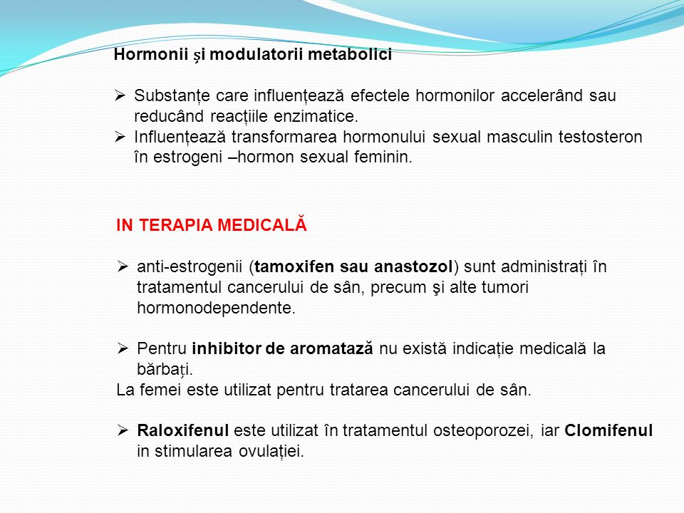 Hormonii și modulatorii metabolici