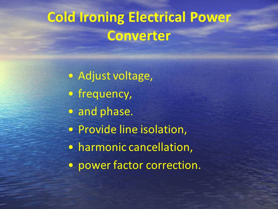 Cold Ironing Electrical Power Converter