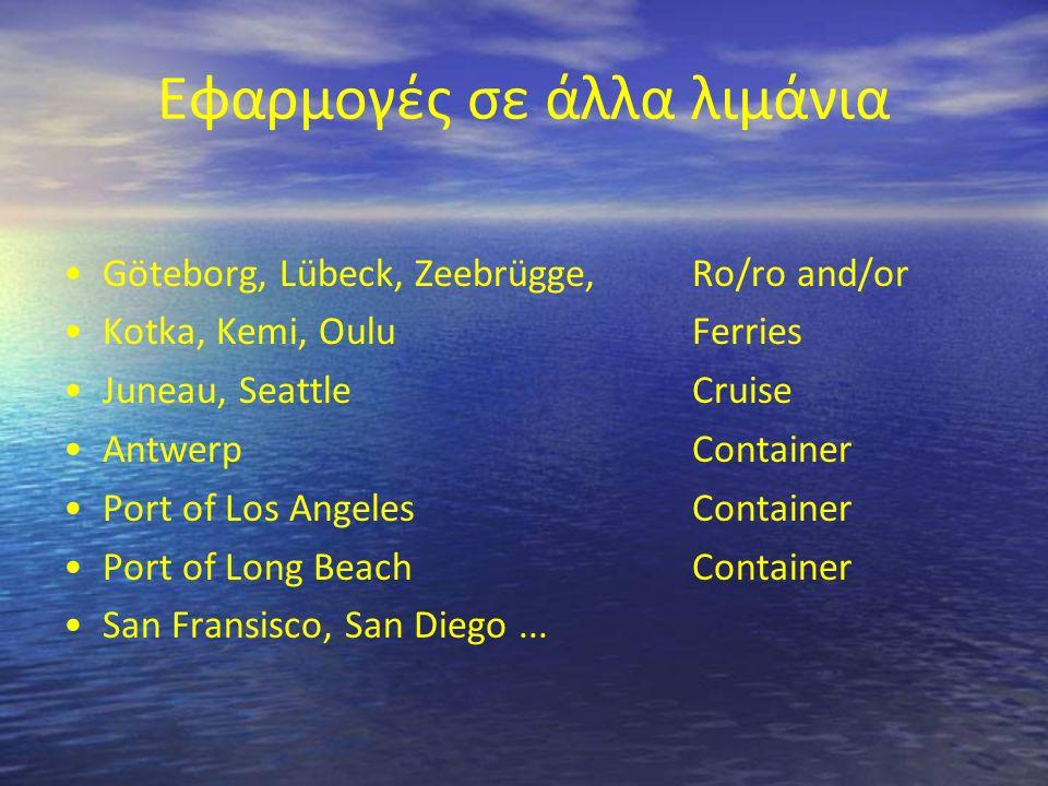 Εφαρμογές σε άλλα λιμάνια