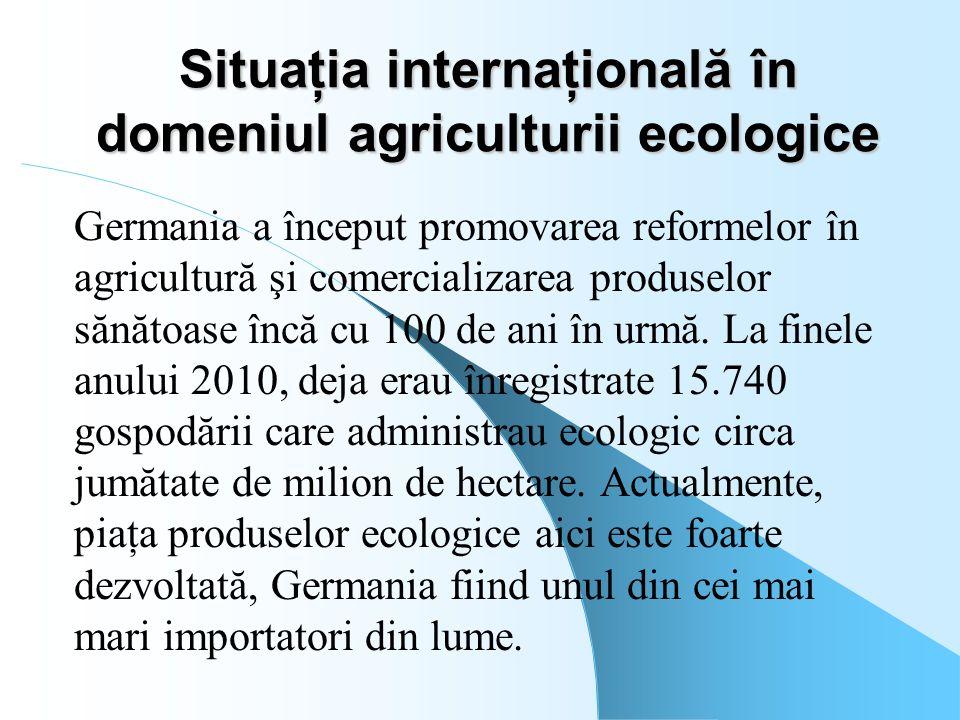 Situaţia internaţională în domeniul agriculturii ecologice