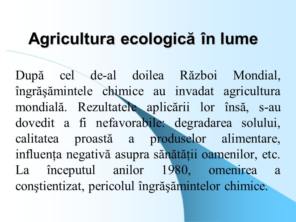 Agricultura ecologică în lume