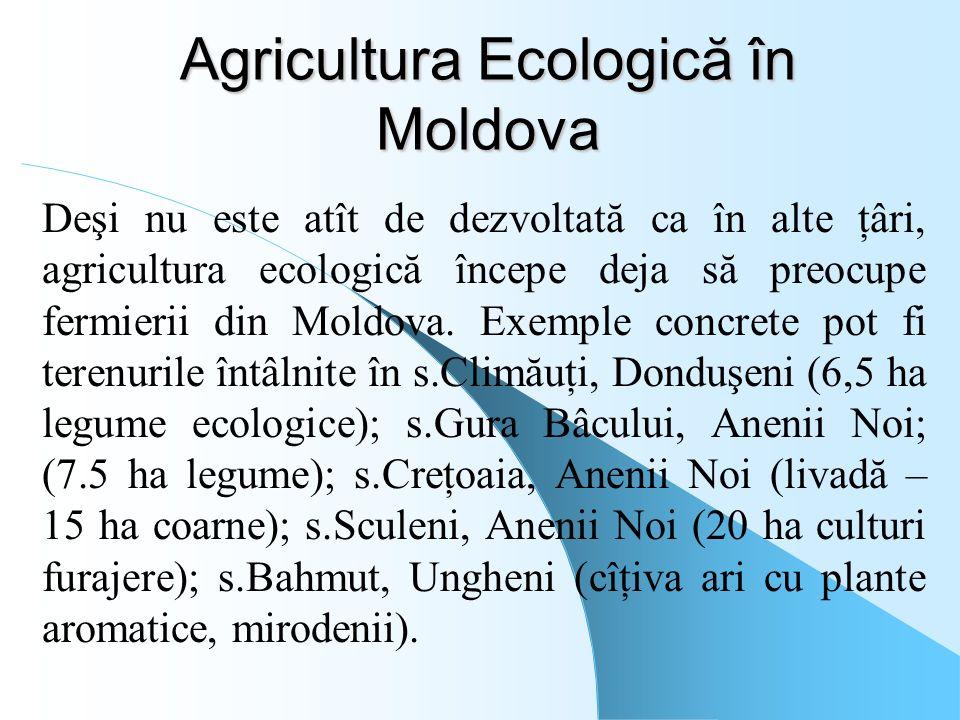 Agricultura Ecologică în Moldova