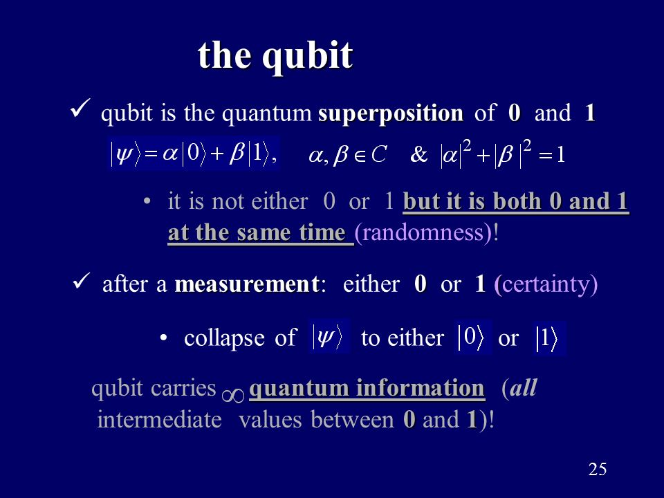the qubit qubit is the quantum superposition of 0 and 1