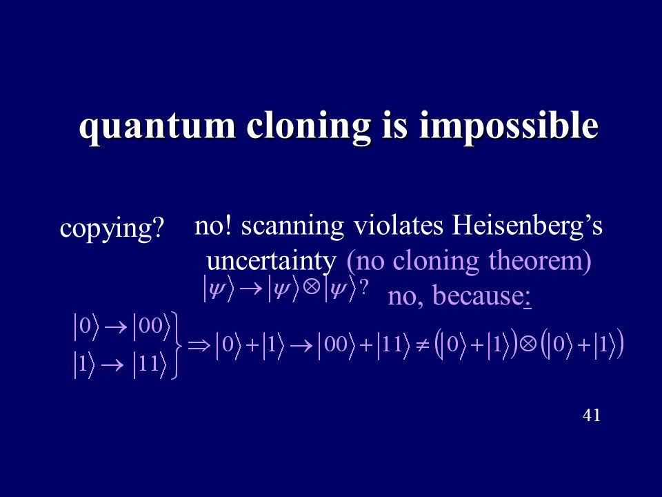 quantum cloning is impossible