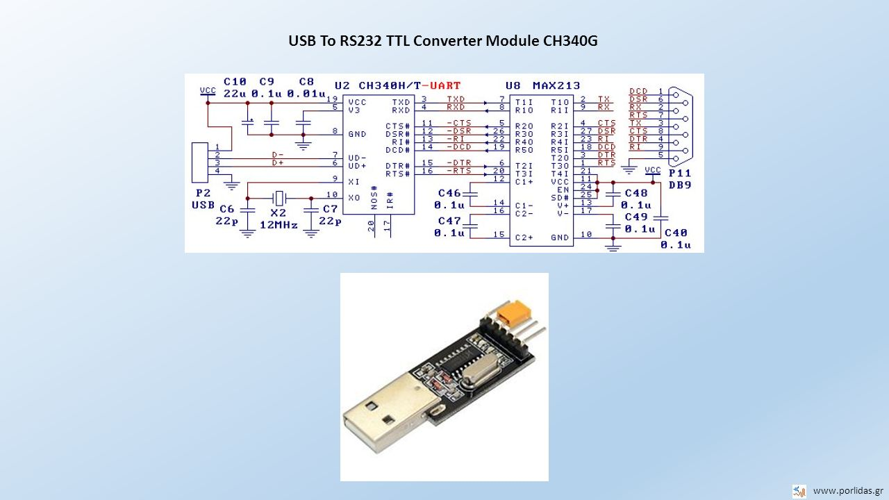 USB To RS232 TTL Converter Module CH340G