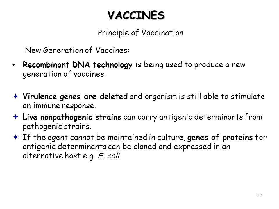 Principle of Vaccination
