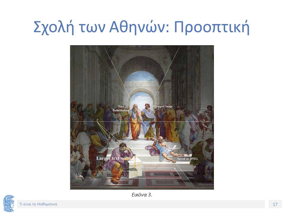 Σχολή των Αθηνών: Προοπτική