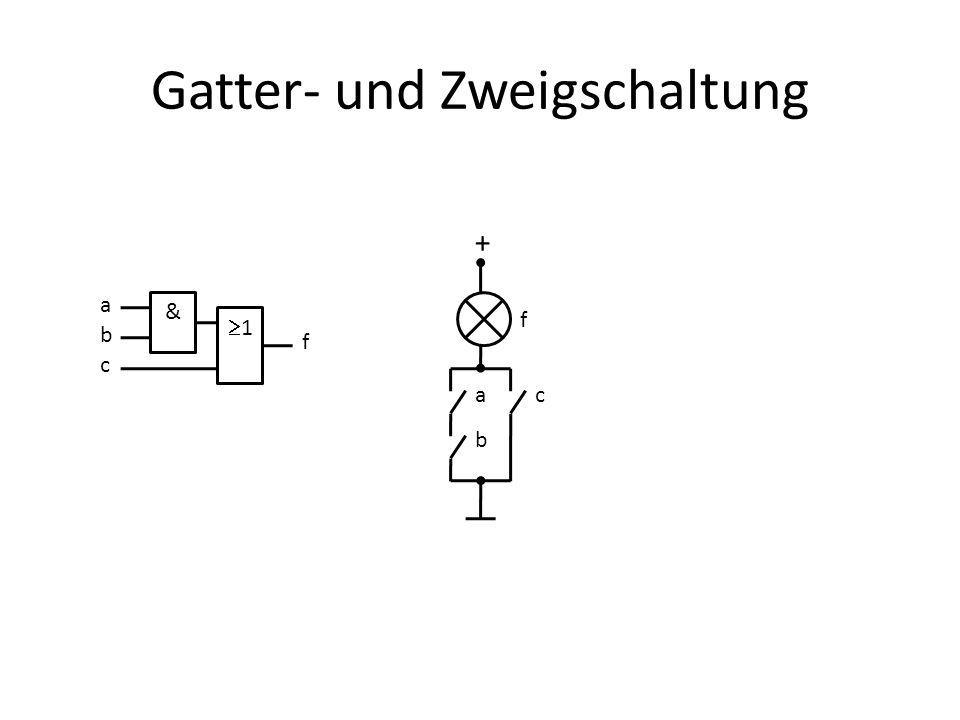 Gatter- und Zweigschaltung