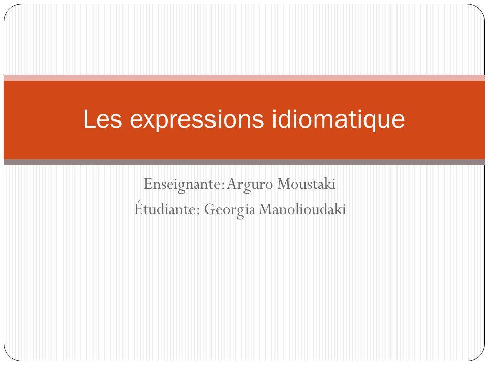 Les expressions idiomatique