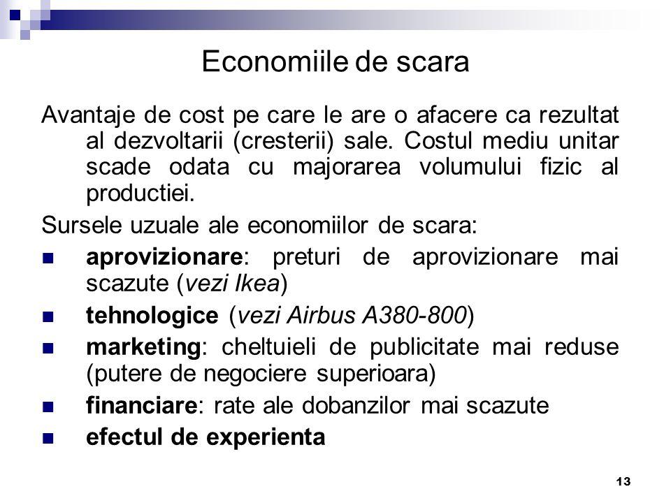 Economiile de scara