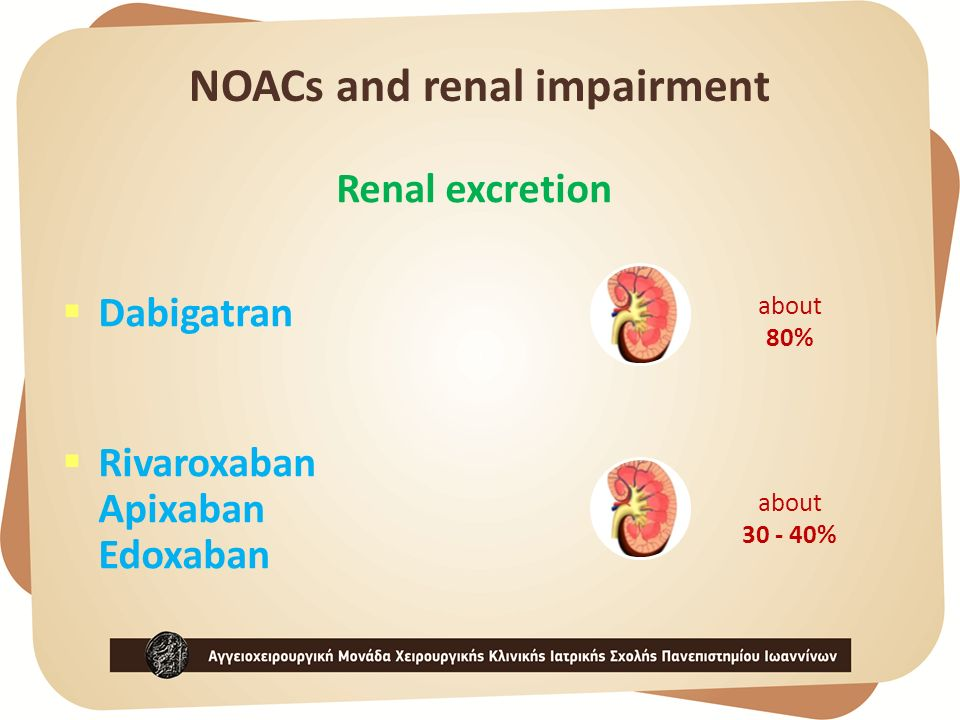 NOACs and renal impairment