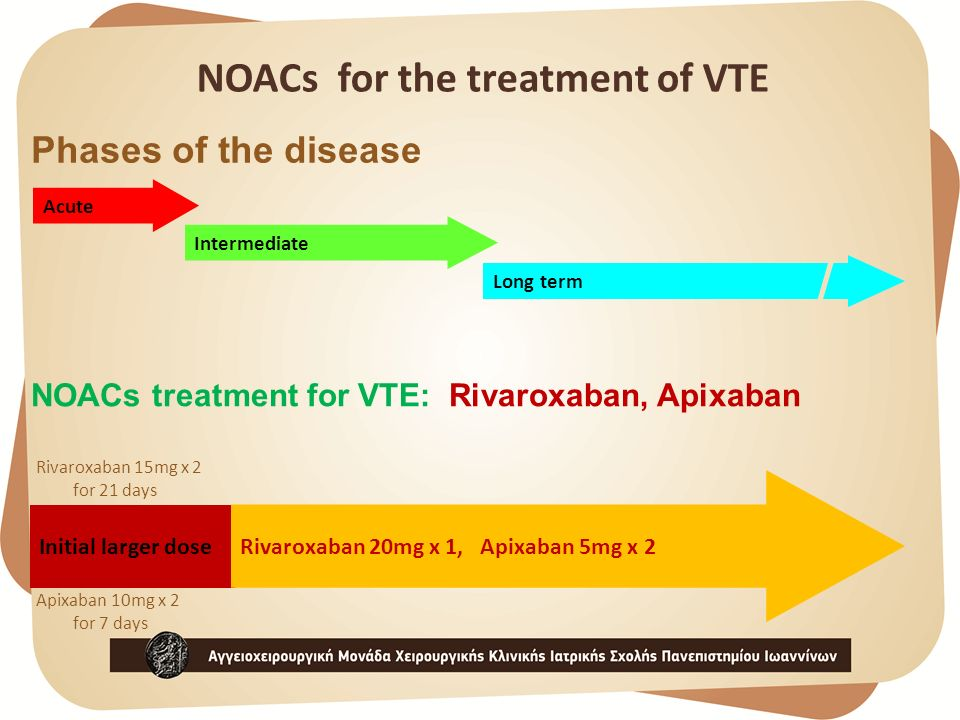 NOACs for the treatment of VTE